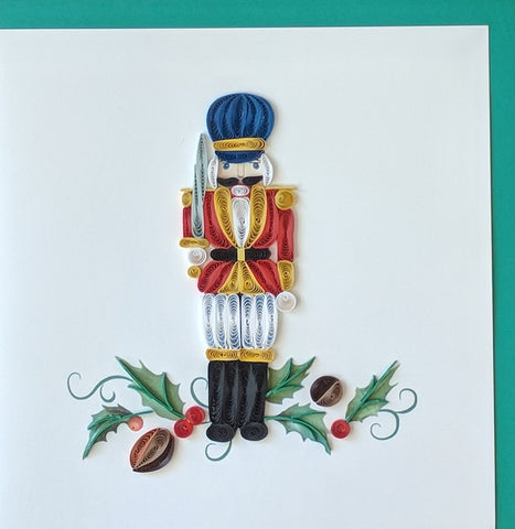 Card Quilling Nutcracker