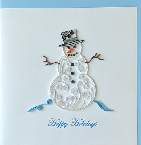 Card Quilling Snowman