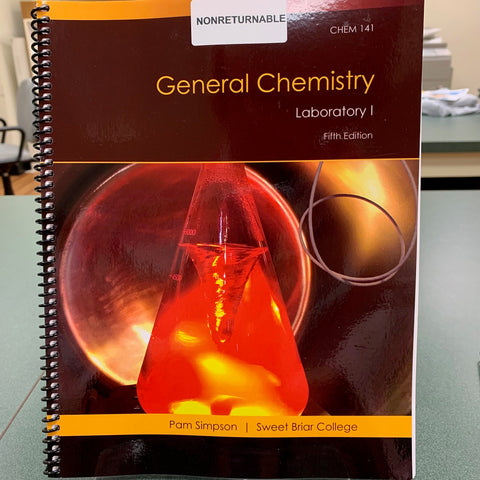 Laboratory Manual CHEM 141 Fall 2019