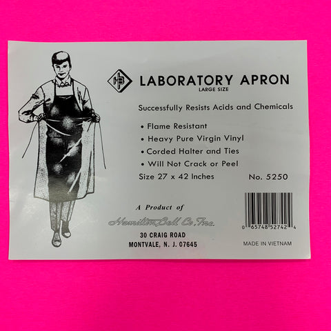 Apron for Chemistry Laboratory