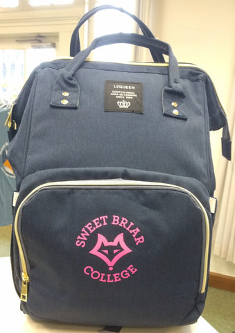 Diaper Bag with Sweet Briar College logo