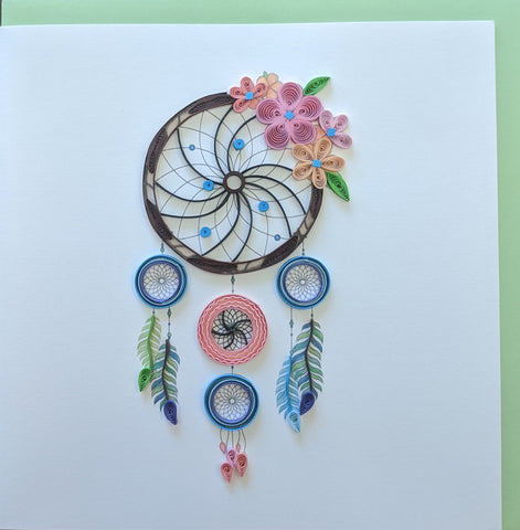 Card Quilling Dreamcatcher