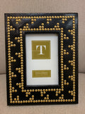 Frame Gold Beaded Black, White, Green