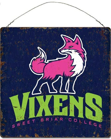 Tin Sign With Fierce Vixen