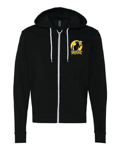 Heavyweight black zip-up hoodie
