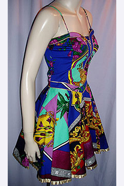 1980s Versace Party Dress