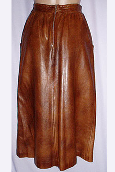 1970s Gucci Leather Skirt