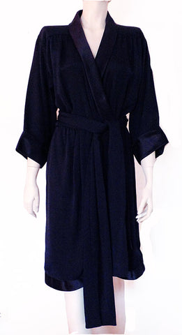 1985 Yves Saint Laurent Couture Wrap Dress