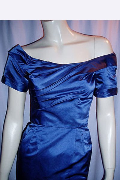 1950s Ceil Chapman Satin Dress