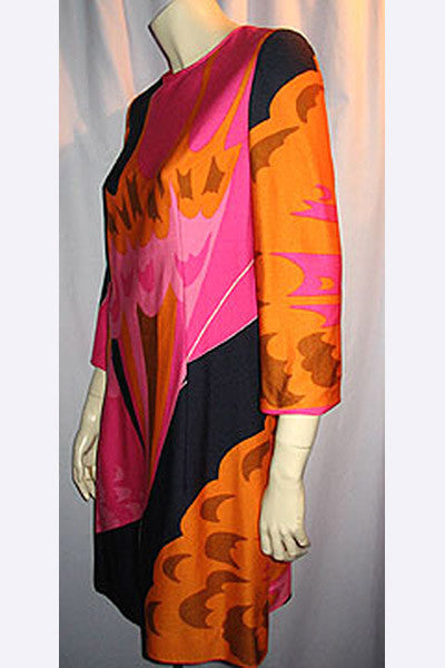 1960s Hanae Mori Ban Lon Dress