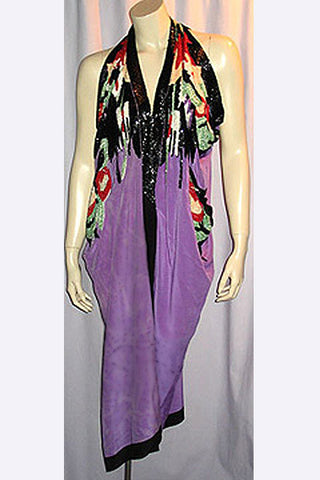 1980s Michaele Vollbrach Beaded Robe