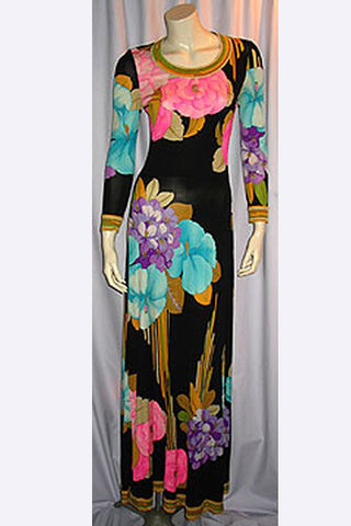1970s Leonard Paris Dress