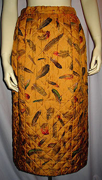 1970s Hermes Quilted Skirt