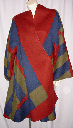 1980s Bill Blass Colorblock Coat