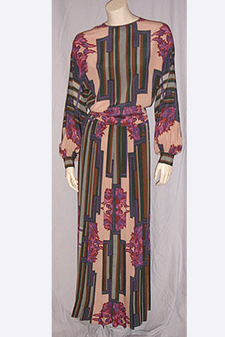 1970s James Galanos Gown