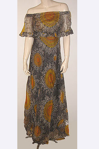 1960s Pierre Cardin Floral Gown
