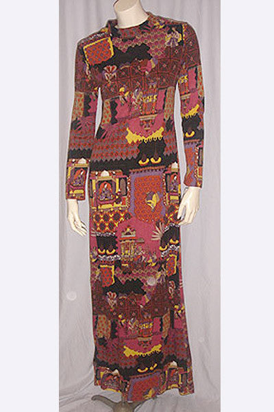1970s Lanvin India Dress