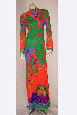 1960s Leonard of Paris Long Dress