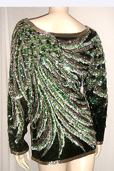 1970s Halston Beaded Top