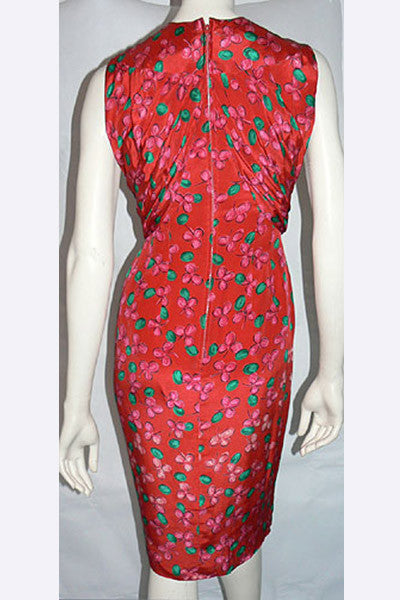 1960s Donald Brooks Cherries Dress