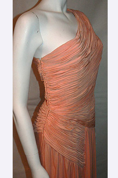 1980s Arnold Scassi Pleated Gown