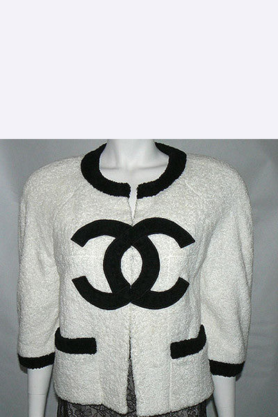 1990s Chanel CC Logo Jacket