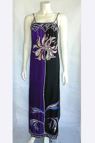 1960s Emilio Pucci Beaded Evening Gown