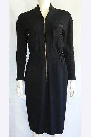 1980s Chanel Zip Up Dress