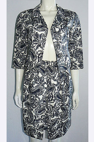 1960s Christian Dior Paisley Suit