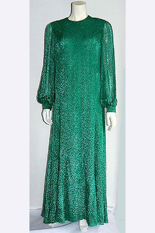 1970s James Galanos Evening Dress