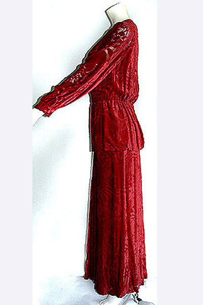 1970s Thea Porter Couture Gown