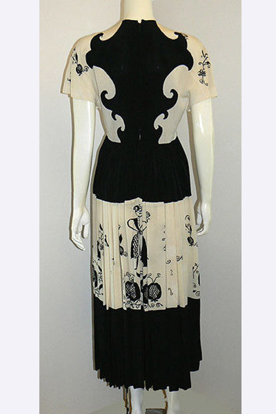 1940s Gilbert Adrian Friendship Dress