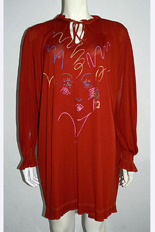 1970s Jean Muir Painted Tunic