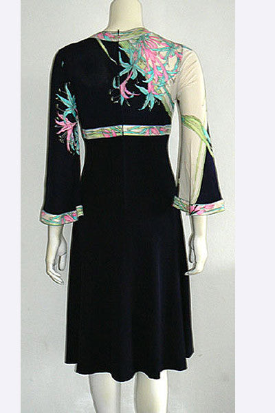 1970s Leonard of Paris Silk Dress