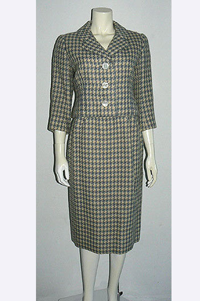 1950s Norman Norell Wool Suit