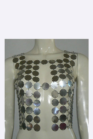 1960s Paco Rabanne Style Top