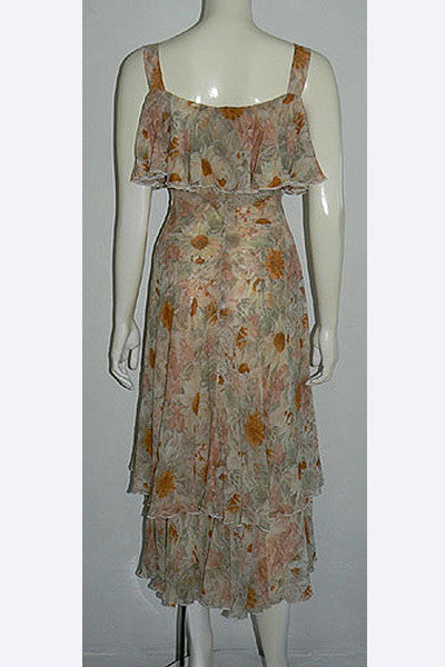 1970s Valentino Floral Dress
