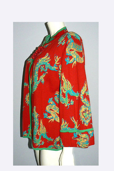 1980s Yves Saint Laurent Dragon Sweater