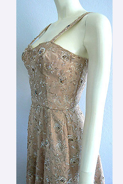 1950s Pedro Rodriguez Beaded Dress