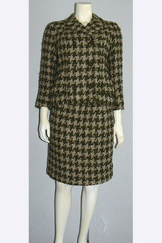 1960s Balmain Houndstooth Tweed Suit