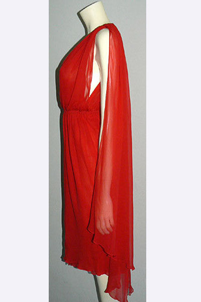 1970s Halston Red Hot Dress