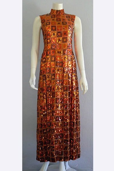 1960s Christian Dior Sequin Dress