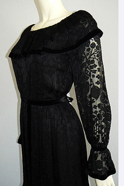 1970s Givenchy Peasant Dress