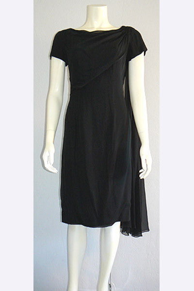 1950s Ceil Chapman Chiffon Dress