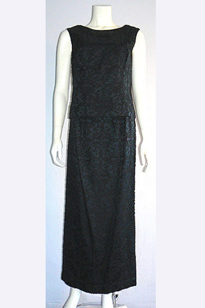 1960s Caviar Beaded Gown