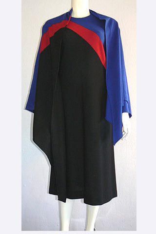 1970s Halston Wool Dress & Shawl Set