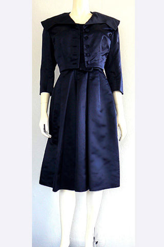 1950s Larry Aldrich Dress & Jacket Ensemble