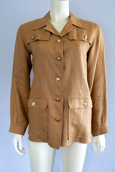1970s Yves Saint Laurent Couture Safari Jacket