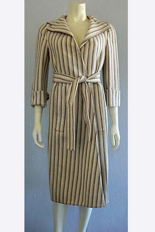 1970s Pauline Trigere Wool Wrap Coat