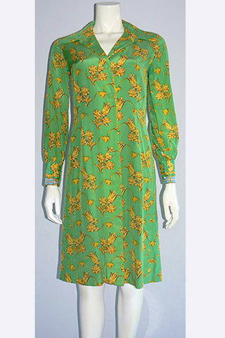 1970s Jean Louis Silk Dress